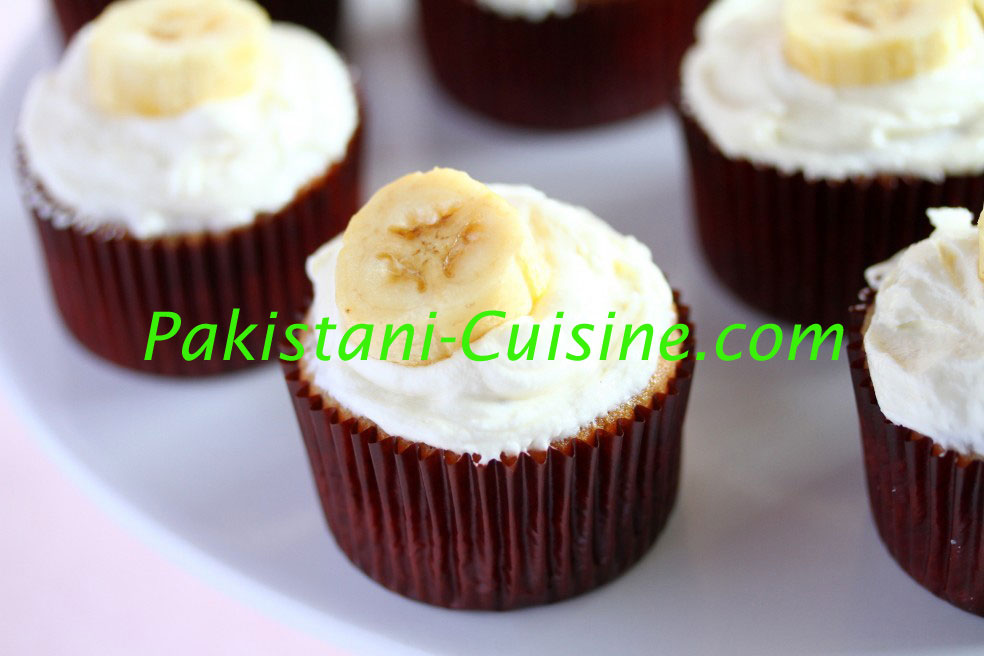 Banana Honey Cup Cakes